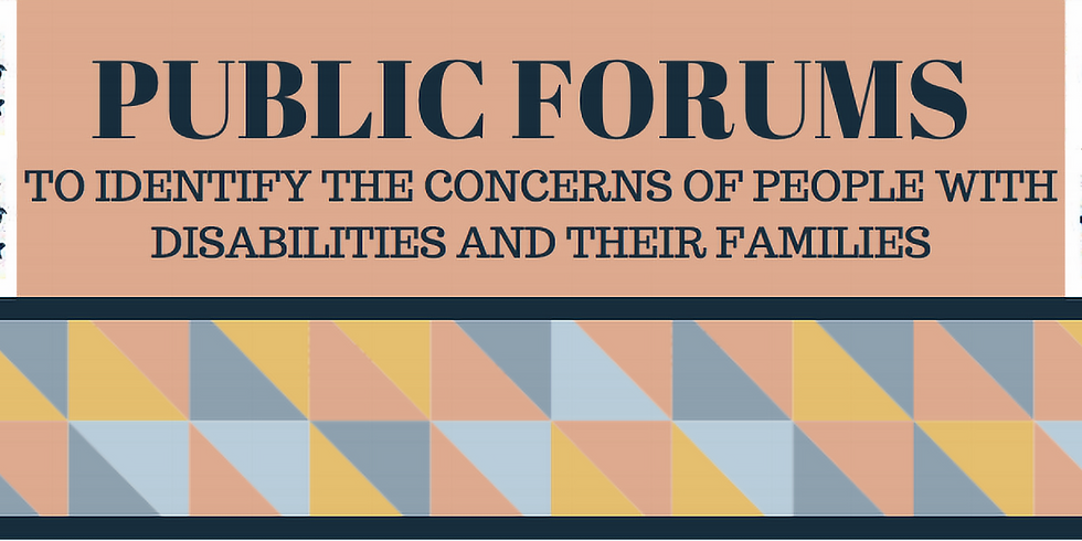 Governor's Commission on Disability Public Forum