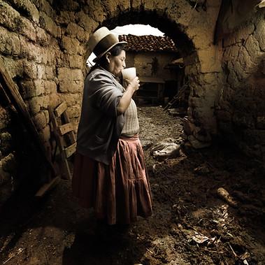 Chicha seller from Maras town, Cusco 2008