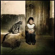 """""""Child with big cat"""", Puno 2007"""