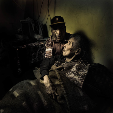 Juan Luna and his mother, Cusco 2008
