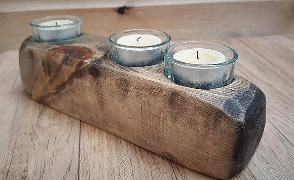 3 candle tealight block