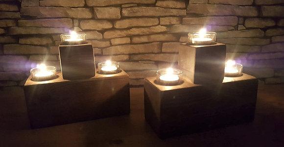 2 x 3 light centrepieces/ tealight holders