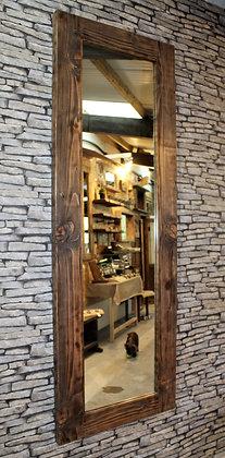 Full length rustic mirror.