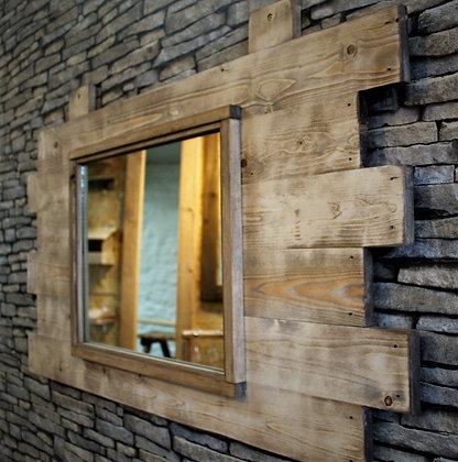 Reclaimed wood rustic mirror. Code17/MX/W2S