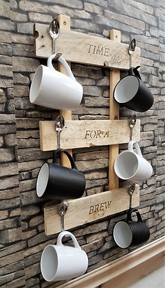 Rustic cup/mug hanger