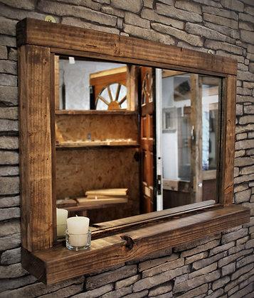 Rustic mirror with shelf. Code 22/MX/W2