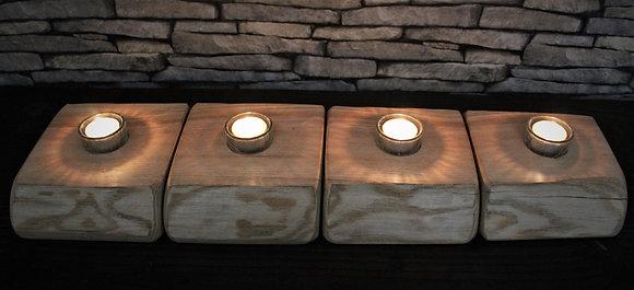 Set of 4 tealight blocks
