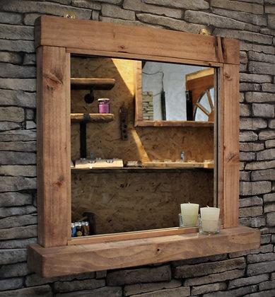 Rustic mirror with shelf. Code 21/MX/C2