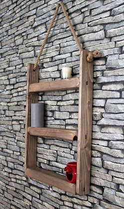 Hanging rope shelves