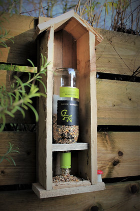 Rustic bird feeder