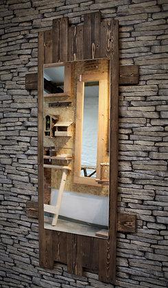Reclaimed wood rustic mirror.  Code 19/MB/W2