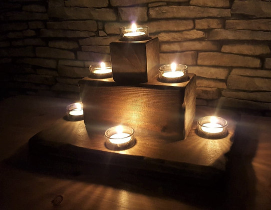7 light centrepiece/tealight holder