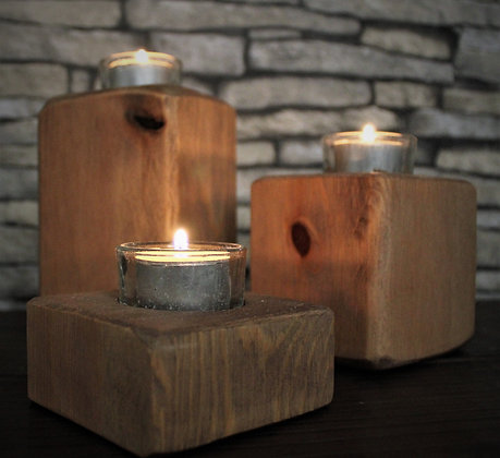 Set of 3 tealight blocks