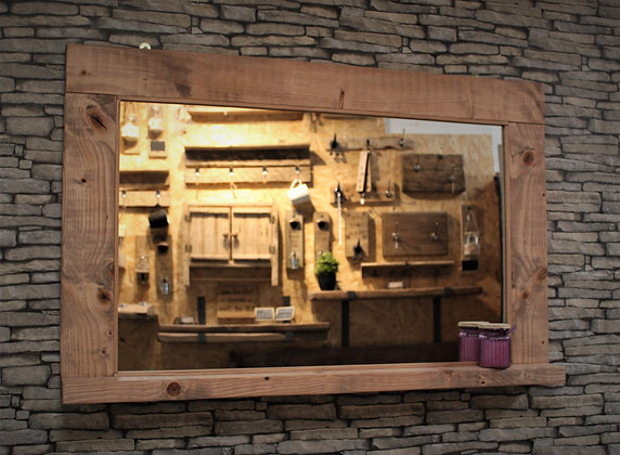 Rustic mirror with shelf Code 09/MD/C2