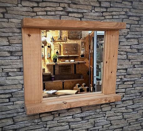 Double shelf rustic mirror  Code: 12/MX/C3
