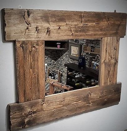 Chunky rustic mirror
