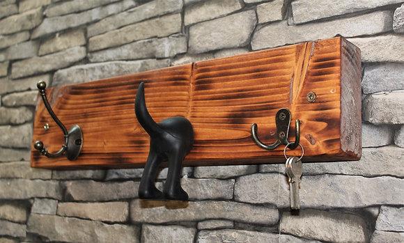 Coat, dog lead and key rack