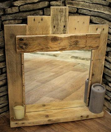Rustic mirror with shelf