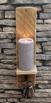 Candle sconce with hook