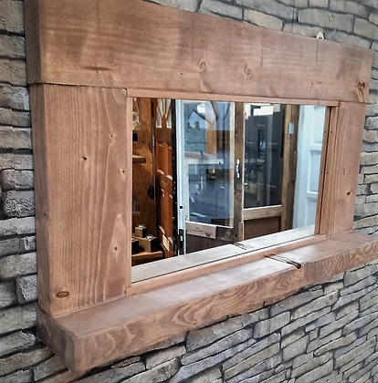 Small rustic mirror with shelf   Code: 11/MX/F3