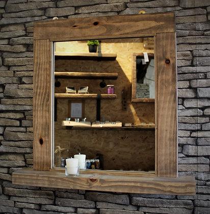 Rustic mirror with shelf. Code 23/MX/W3