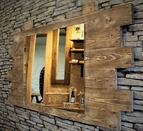Reclaimed wood rustic mirror.  Code 18/MA/W2S