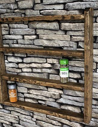 Rustic 4 tier  Ash spice shelf
