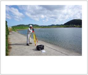 河川の横断測量業務