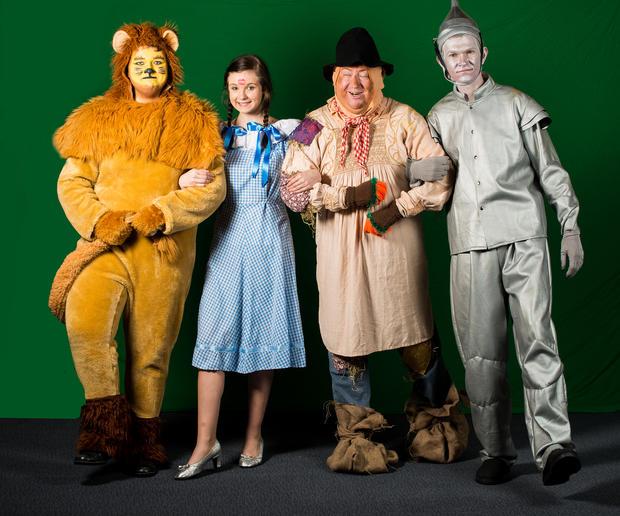 Lion, Dorothy, Scarecrow and Tin man