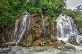Sapa waterfall after the rain