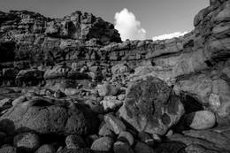 Lava rock face