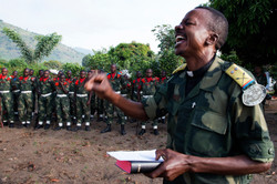 Lt Colonel taking Prayers