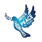Soul Food grace and peace dove card design