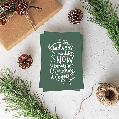 'Kindness is like snow' greeting card - pack of 6