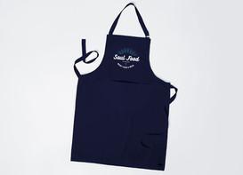 Classic Soul Food navy denim apron