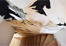 Fresque dans l'escalier