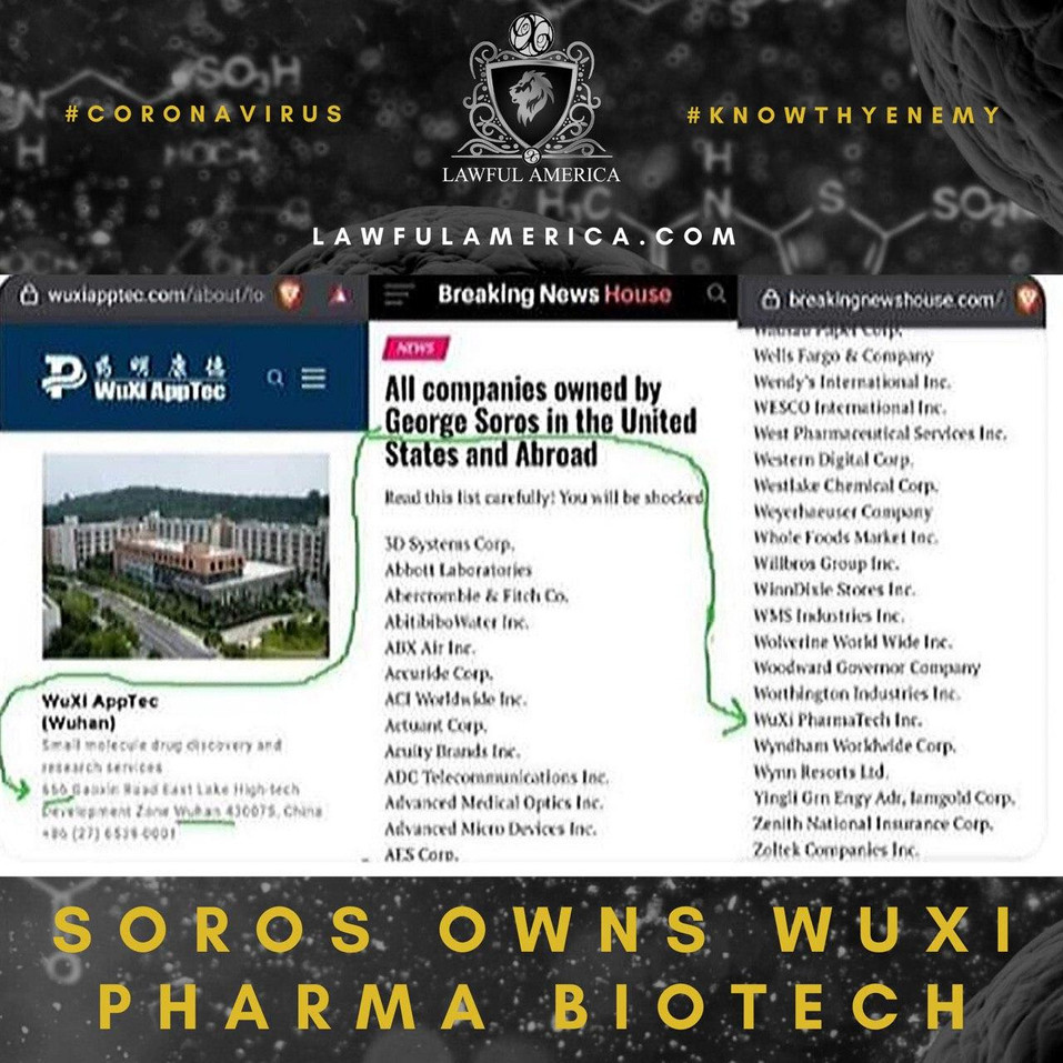 #KNOWTHYENEMY - Soros Owns Wuxi Pharma B