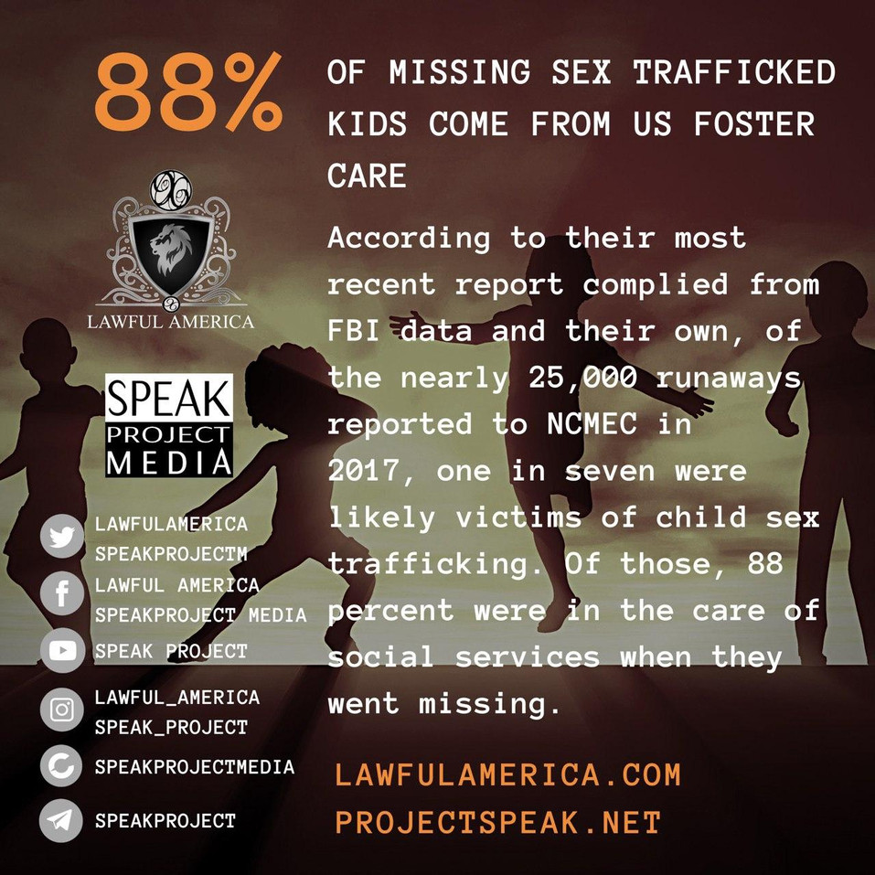 DID YOU KNOW - 88% of Missing Sex Traffi