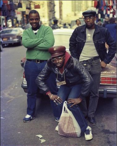 Black people on street