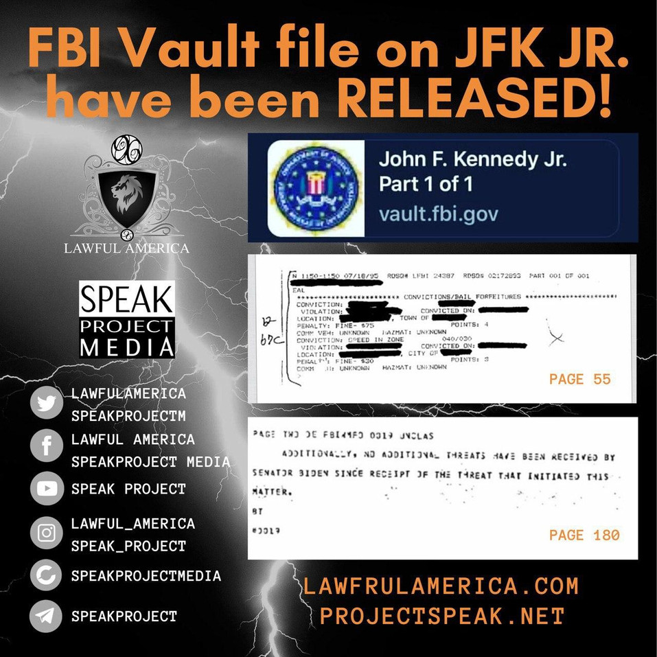 DID YOU KNOW - FBI Vault File on JFK JR
