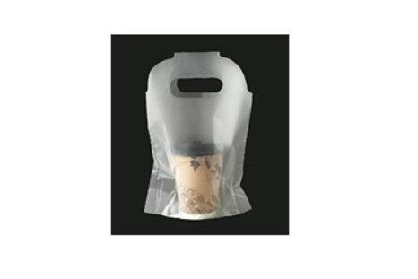 テイクアウト用カップ袋『三代目キャリーカップ』1 個用 半透明無地 1,500枚