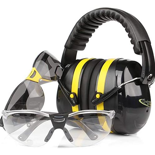 Tradesmart Ear Muff & Safety Glasses Combo (Yellow)
