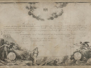 L'Enfant's breathtaking diploma created for the Society of the Cincinnati