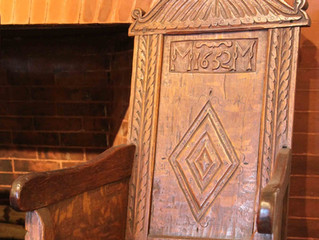 The oldest, American-made dated chair: Michael Metcalf's 1652 white oak great chair