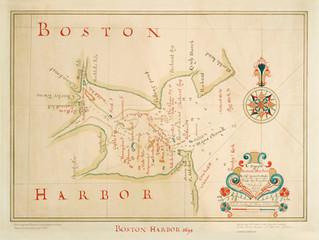 A rare 1694 view of Boston Harbor