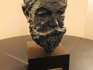 A bust of the great Boston historian Walter Muir Whitehill