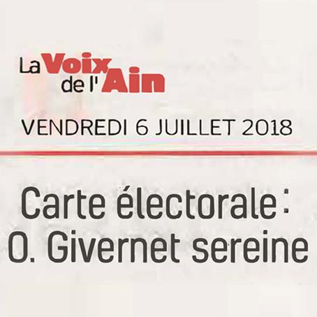 La Voix de l'Ain : Carte électorale, O. Givernet sereine