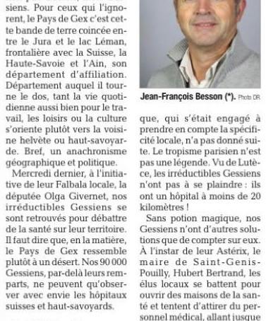 Le Dauphiné : Le Pays de Gex : si loin, si près
