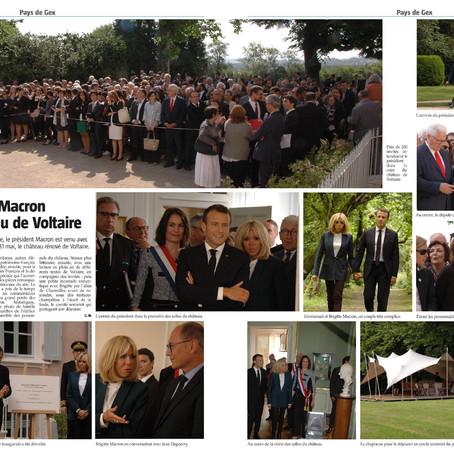 Retour sur la visite d'Emmanuel Macron à Ferney