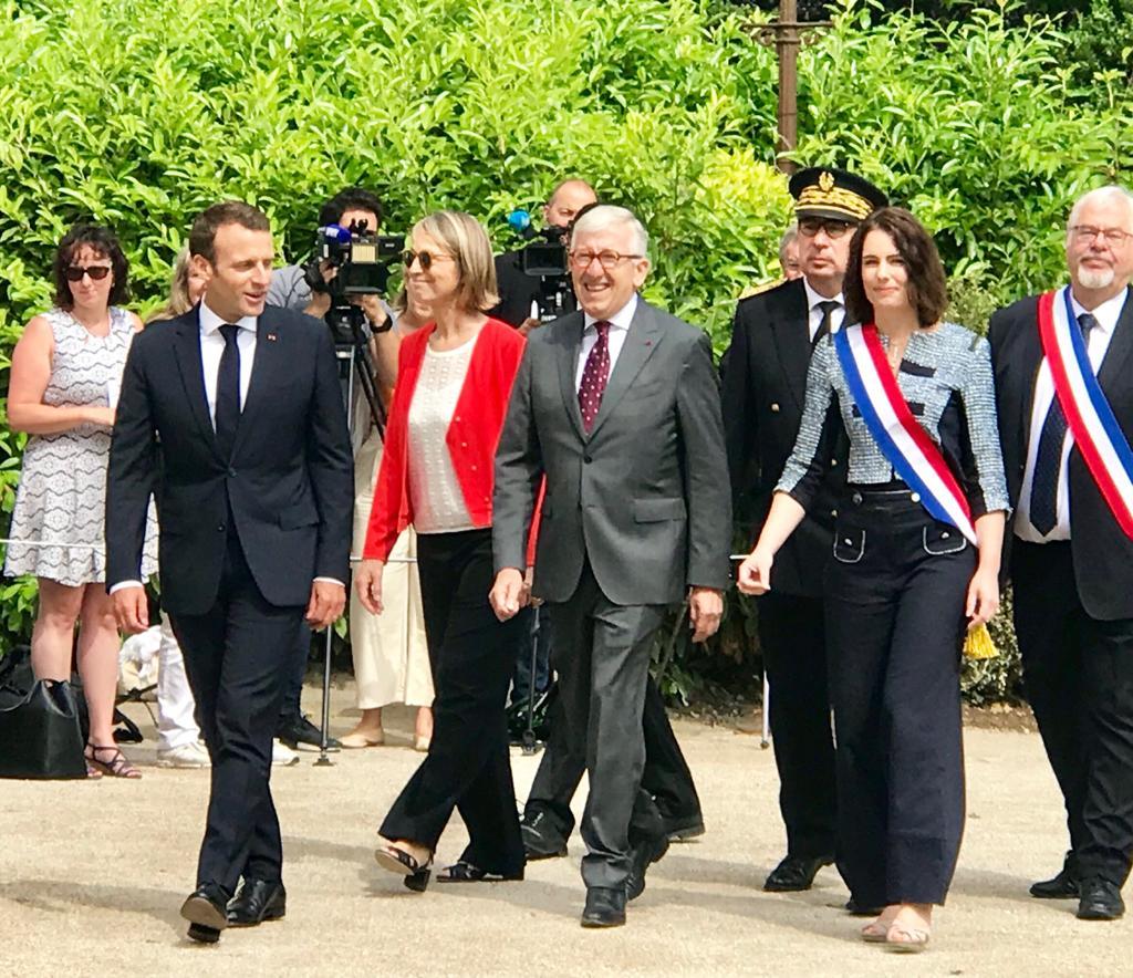 Visite présidentielle au château de Voltaire
